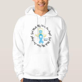 Prostate Cancer God Made My Hero An Angel Hooded Sweatshirt