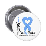 Prostate Cancer Heart Ribbon BROTHER 2 Inch Round Button