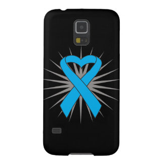 Prostate Cancer Heart Ribbon Galaxy S5 Cover