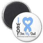 Prostate Cancer Heart Ribbon DAD Magnet