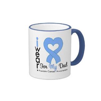 Prostate Cancer Heart Ribbon DAD Mug