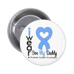 Prostate Cancer Heart Ribbon DADDY Pinback Buttons