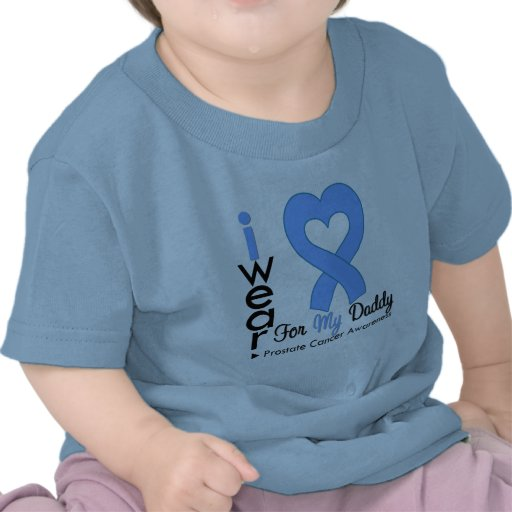 Prostate Cancer Heart Ribbon DADDY Shirts