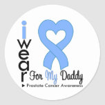 Prostate Cancer Heart Ribbon DADDY Sticker