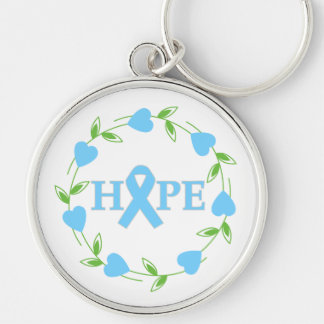 Prostate Cancer Hearts of Hope Key Chain