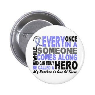 Prostate Cancer HERO COMES ALONG 1 Brother Buttons