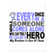 Prostate Cancer HERO COMES ALONG 1 Brother Postcard