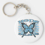 Prostate Cancer Hope Believe Butterfly Basic Round Button Keychain