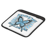 Prostate Cancer Hope Believe Butterfly Sleeve For iPads