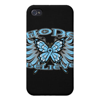 Prostate Cancer Hope Believe Butterfly iPhone 4 Cases