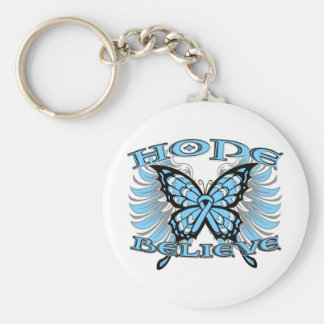 Prostate Cancer Hope Believe Butterfly Key Chain