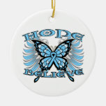 Prostate Cancer Hope Believe Butterfly Christmas Ornaments