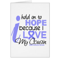 Prostate Cancer Hope for My Cousin Card
