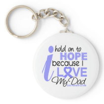 Prostate Cancer Hope for My Dad Keychain