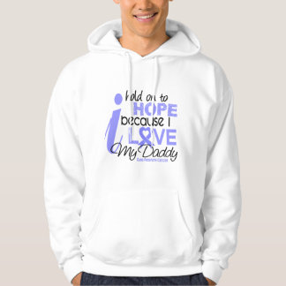 Prostate Cancer Hope for My Daddy Hooded Sweatshirt