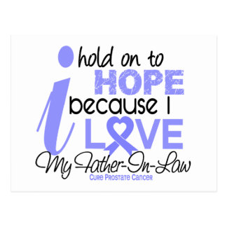 Prostate Cancer Hope for My Father-In-Law Postcards