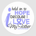 Prostate Cancer Hope for My Father Round Sticker