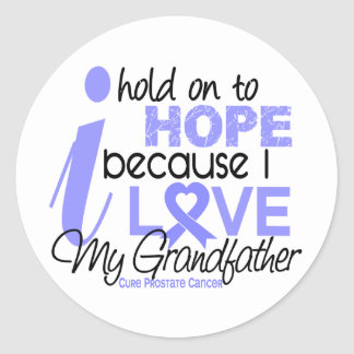 Prostate Cancer Hope for My Grandfather Classic Round Sticker
