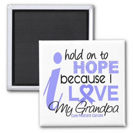 Prostate Cancer Hope for My Grandpa 2 Inch Square Magnet