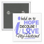 Prostate Cancer Hope for My Husband Button