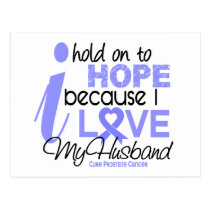 Prostate Cancer Hope for My Husband Postcard