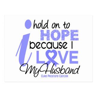 Prostate Cancer Hope for My Husband Postcard