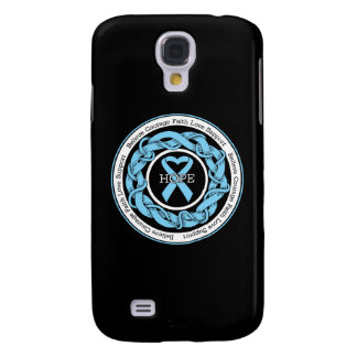 Prostate Cancer Hope Intertwined Ribbon Galaxy S4 Cases