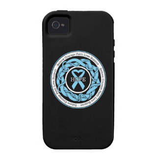 Prostate Cancer Hope Intertwined Ribbon Case For The iPhone 4