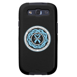 Prostate Cancer Hope Intertwined Ribbon Galaxy SIII Cover