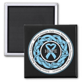 Prostate Cancer Hope Intertwined Ribbon Refrigerator Magnets