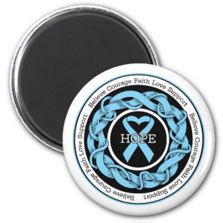 Prostate Cancer Hope Intertwined Ribbon Magnets