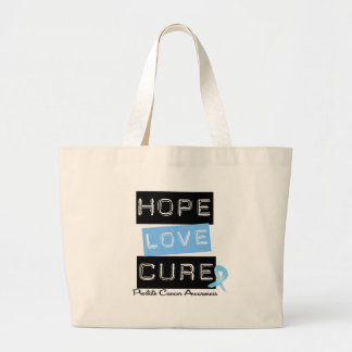 Prostate Cancer Hope Love Cure Canvas Bag