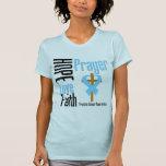 Prostate Cancer Hope Love Faith Prayer Cross T-shirts
