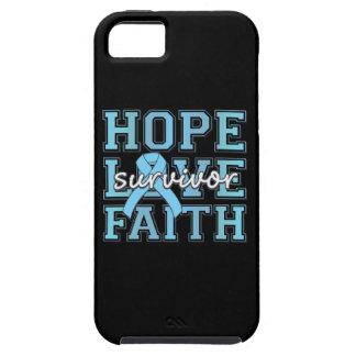 Prostate Cancer Hope Love Faith Survivor iPhone 5 Cases