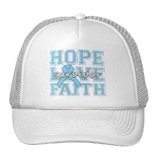 Prostate Cancer Hope Love Faith Survivor Trucker Hat