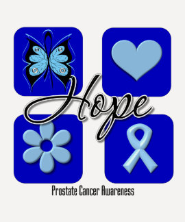 Prostate Cancer Hope Love Inspire Awareness Tees