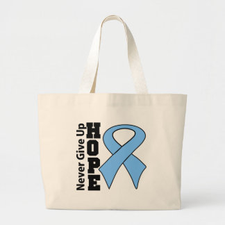 Prostate Cancer Hope Never Give Up Jumbo Tote Bag