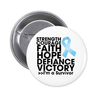Prostate Cancer Hope Strength Victory Pin