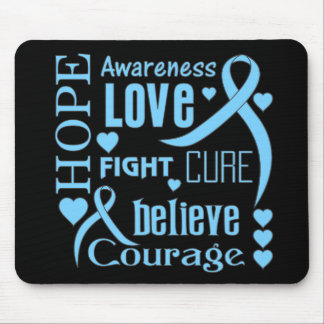 Prostate Cancer Hope Words Collage Mouse Pad