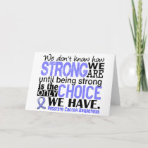 Prostate Cancer How Strong We Are Card