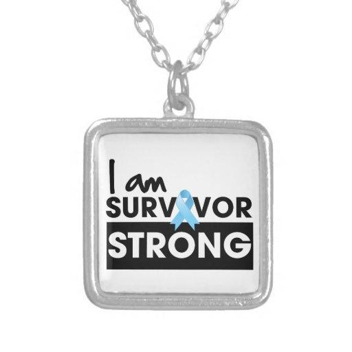 Prostate Cancer I am Survivor Strong Custom Necklace