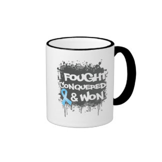 Prostate Cancer I Fought Conquered Won Mugs