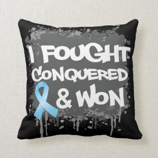 Prostate Cancer I Fought Conquered Won Pillows
