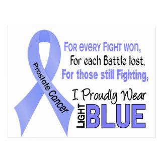 Prostate Cancer I Proudly Wear Light Blue 1 Postcard