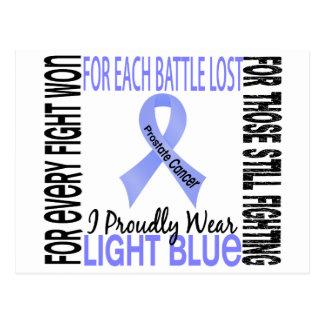 Prostate Cancer I Proudly Wear Light Blue 2 Postcard