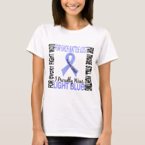 Prostate Cancer I Proudly Wear Light Blue 2 T-Shirt