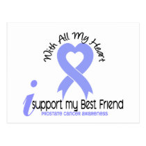 PROSTATE CANCER I Support My Best Friend Postcard
