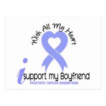 PROSTATE CANCER I Support My Boyfriend Postcard