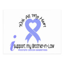 PROSTATE CANCER I Support My Brother-In-Law Postcard