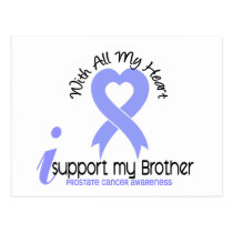 PROSTATE CANCER I Support My Brother Postcard
